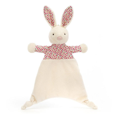 bunny soother petal jellycat white bunny with flowers dress
