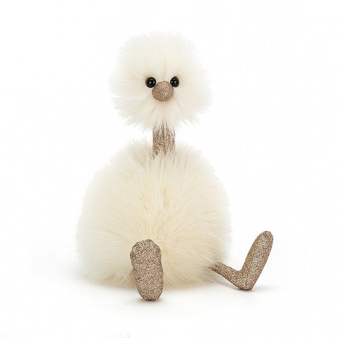 pompom glimmer jellycat white and gold