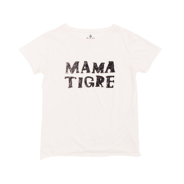 "This cute t-shirt from Noé & Zoë is made from super soft organic cotton and it features the print ""mama tigre"". It has a crew neck and a loose fit to feel comfortable. Perfect for a tigre-family portrait! available at konfetti kids the shop for kids in barcelona. konfetti kids la tienda para niños en barcelona"