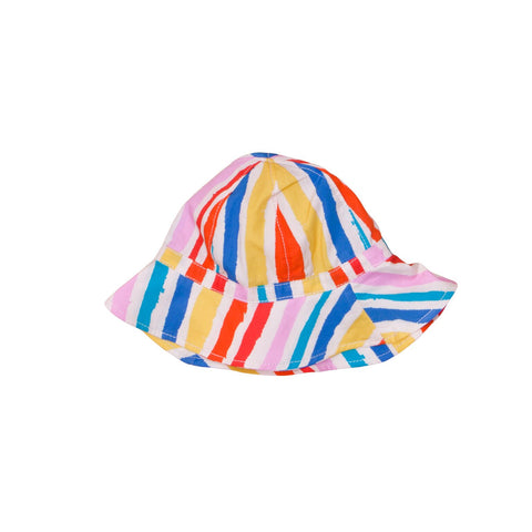 summer hat with the multi kulti print from Noe Zoe Berlin 100% Cotton available at KONFETTI kids the shop for kids in barcelona. gorro de noe zoe berlin en konfetti kids la tienda para niños en Barcelona