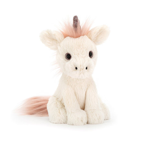 starry eyed unicorn from jellycat pink and white