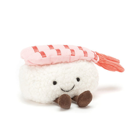 silly sushi nigiri jellycat rice with prawn