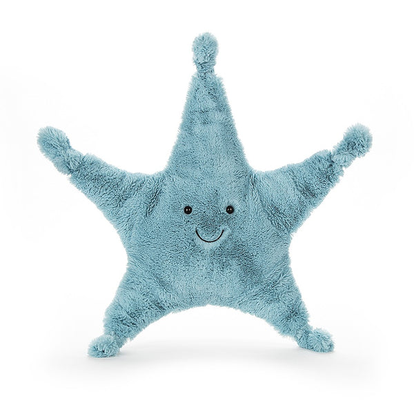 from Jellycat the skye starfish in blue, 34cm