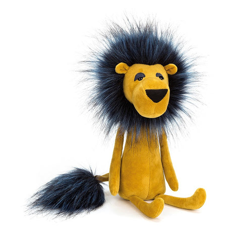 Swellegant Lancelot Lion from Jellycat yellow and blue