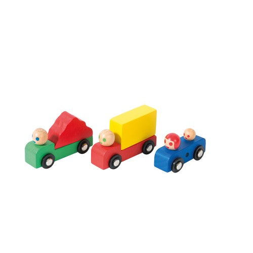car and trucks wooden set moulin roty