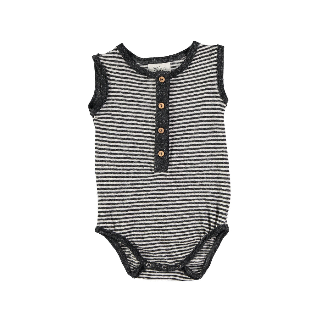 buho barcelona bibi romper striped grey and white with buttons