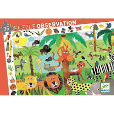 djeco puzzle jungle observation