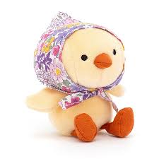 betty bonnet yellow chick from jellycat