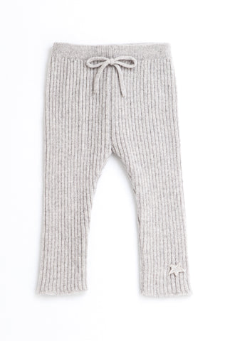 tocoto vintage knitted leggings in grey pantalones