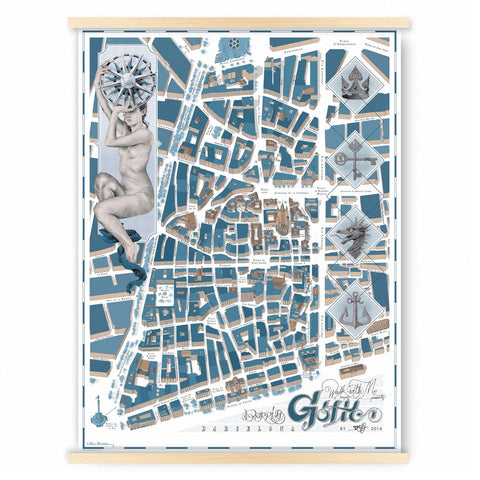 Gothic map, Barcelona, walk with me
