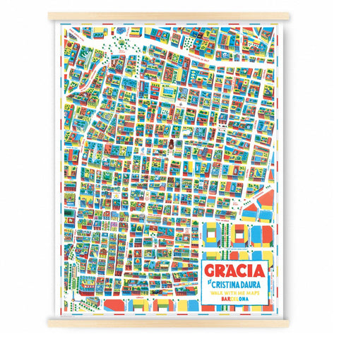 Gracia Map, Barcelona, Walk with me