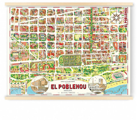 Poble Nou, Barcelona, Map, Walk with me