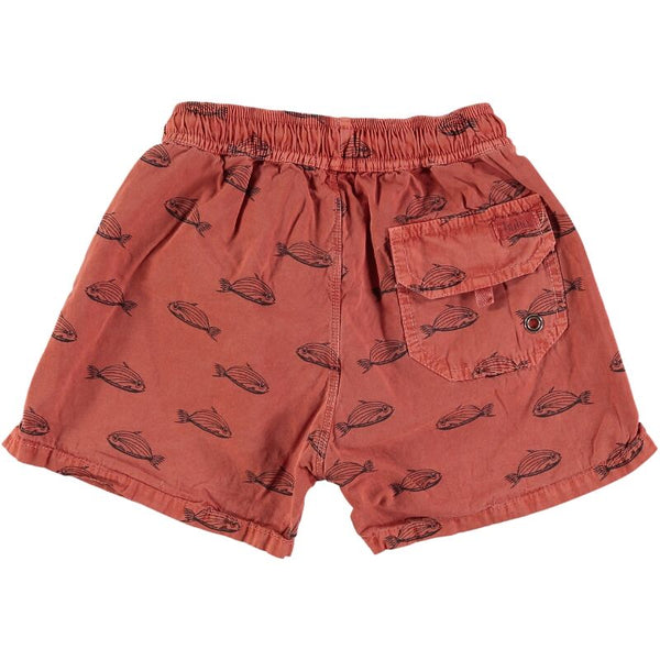 Hansel fish swimsuit bañador niño fishes color terracotta