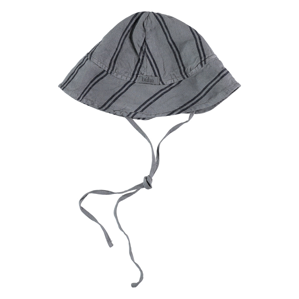 baby hat from buho barcelona, baby gorro stripes coquille available at konfetti kids in barcelona tienda para niños en barcelona