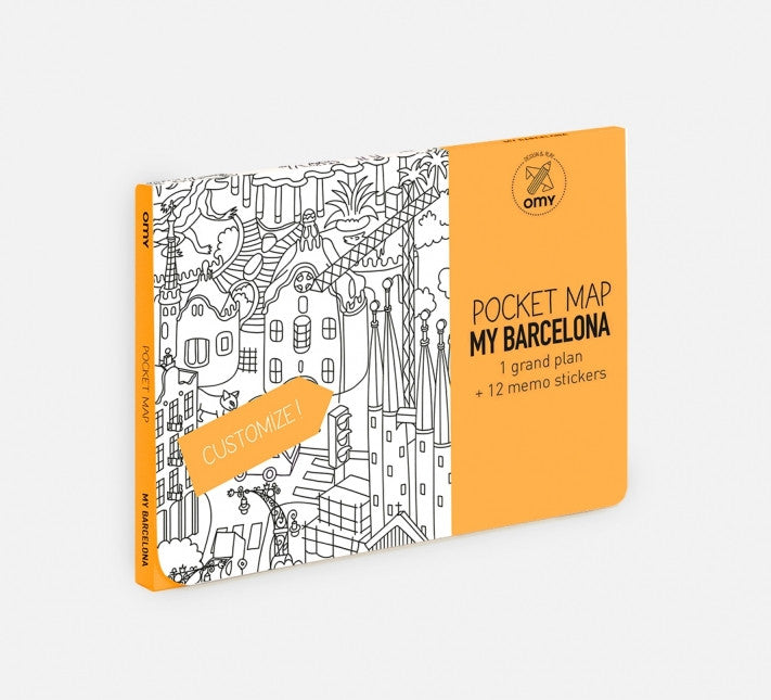 Barcelona, Pocket Map, OMY, KONFETTI kids