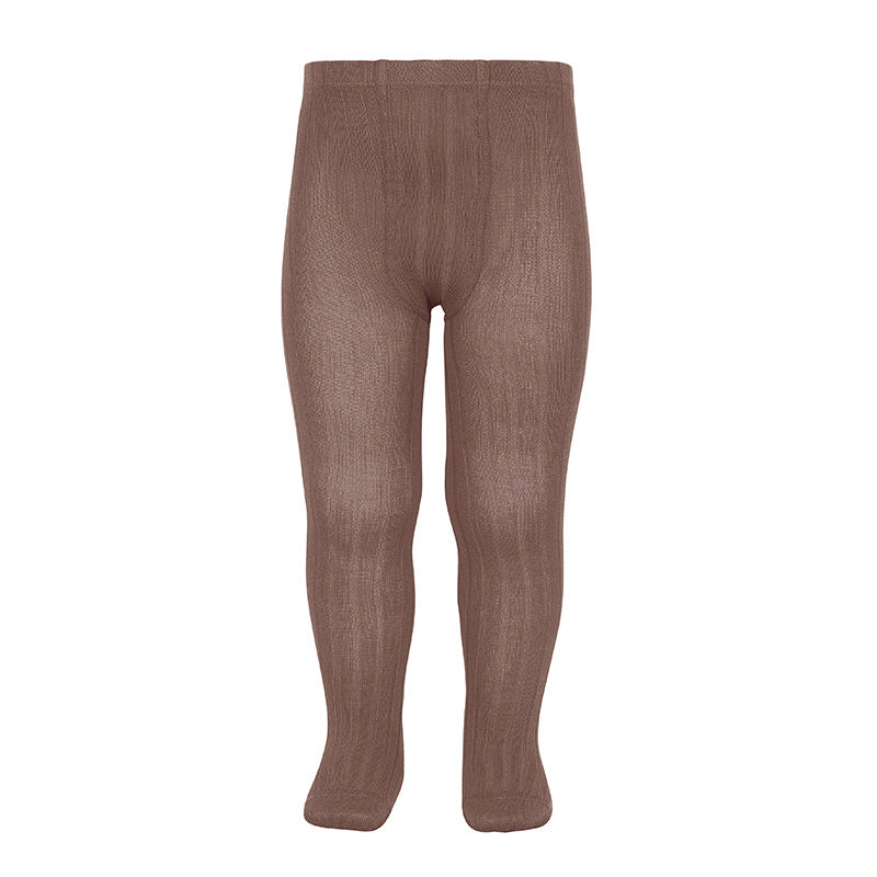 condor praline leotardos canalé rib tights