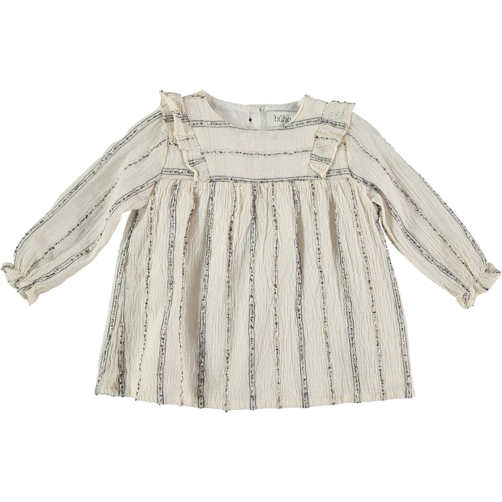 amber baby dress from buho in ecru color