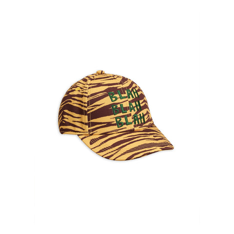 tiger cap stripe blah blah blah green yellow and brown