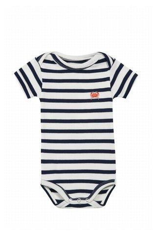 Body, short sleeves, crab, stripes, maison labiche, cotton, konfetti kids, barcelona, tined niños