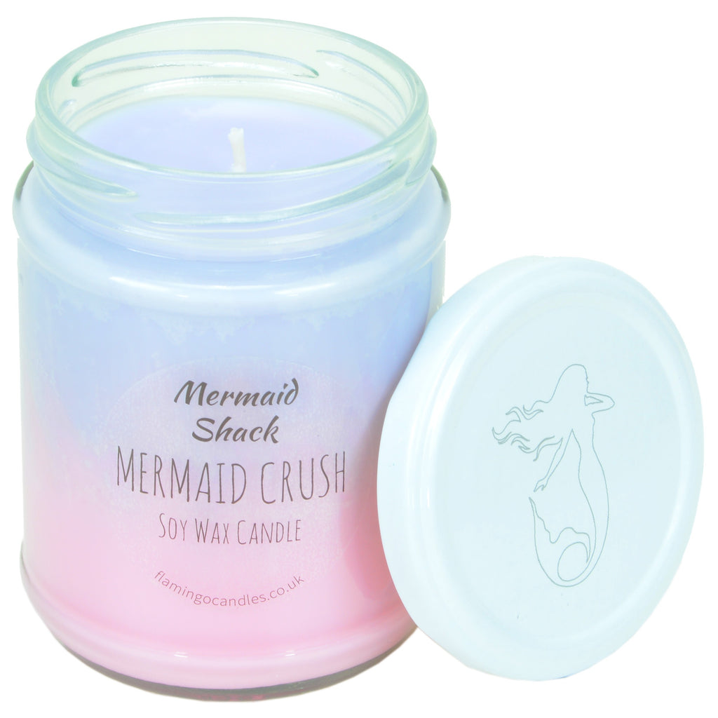 Flamingo Candles ~ Mermaid Crush Purple/Pink Ombre Candle