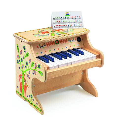toy piano, djeco, wood, madera, niños, konfetti kids