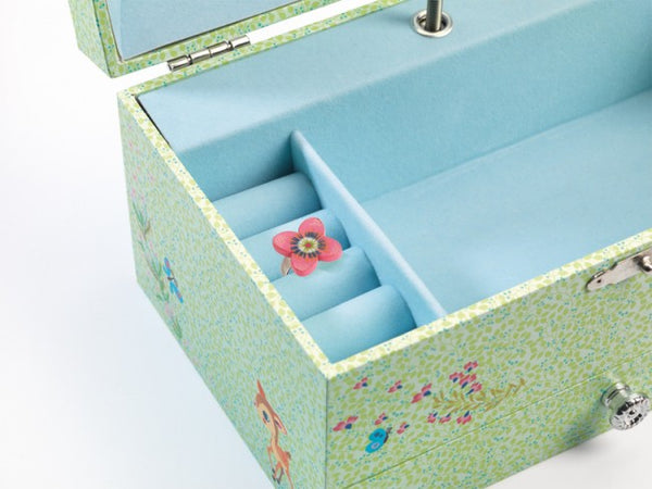 fawn music box djeco cervatillo green and light blue