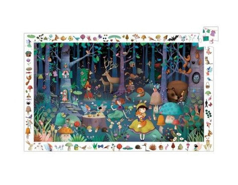 magic forest puzzle from Djeco Observation