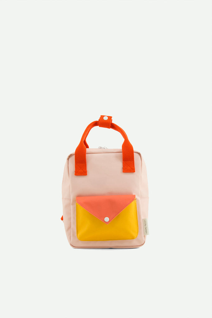 sticky lemon enveloper backpack pink yellow orange mochila