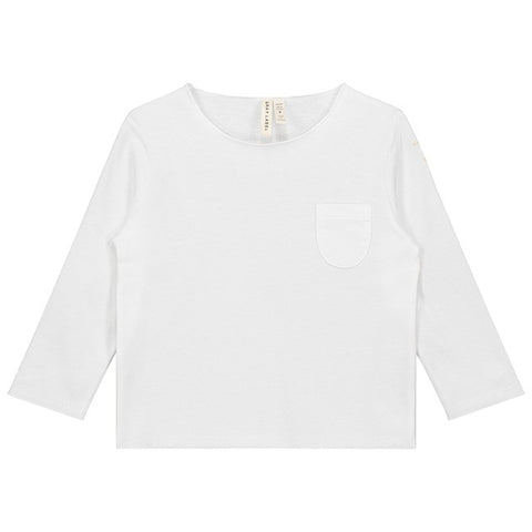 Pocket Tee, Gray Label, White