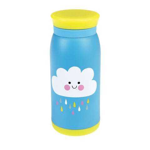 cloud stainless steel bottle from rex london blue and yellow