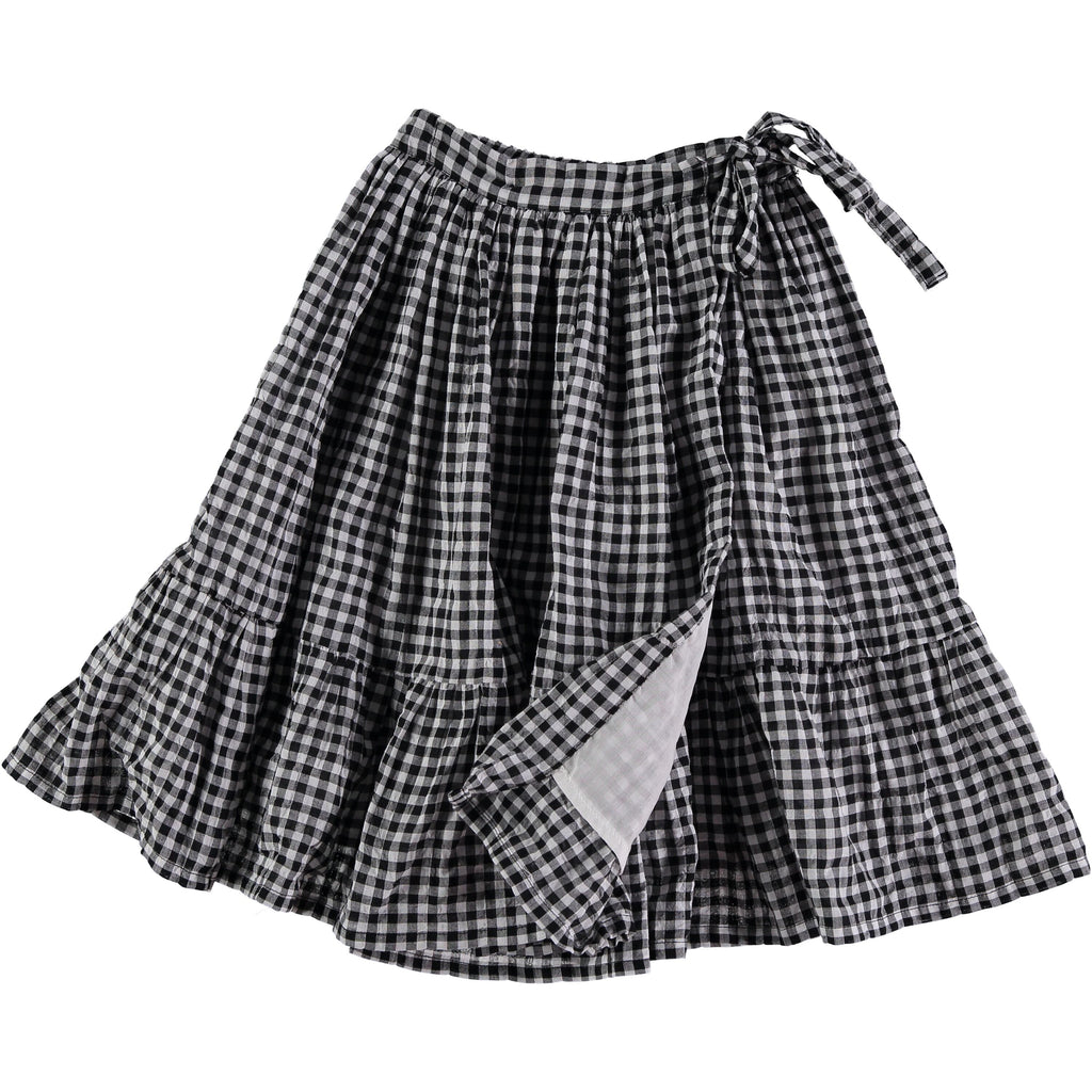 JEANNE VICHY FOLK MIDI SKIRT from buho white and navy