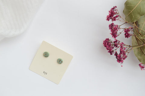 NUA Earrings Dots - Green