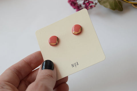 NUA Earrings Detail - Red