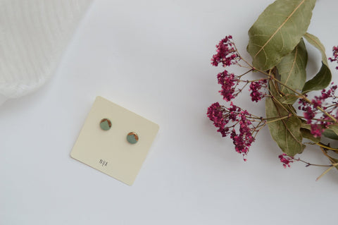 NUA Earrings Detail - Green