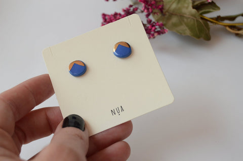 NUA Earrings Detail - Blue