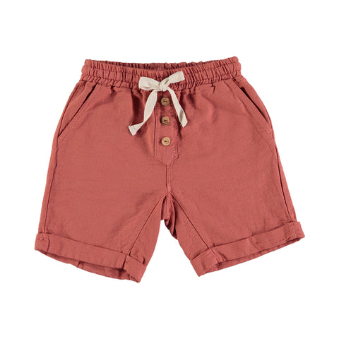 SIMON COTTON BERMUDA from buho in terracotta color with buttons