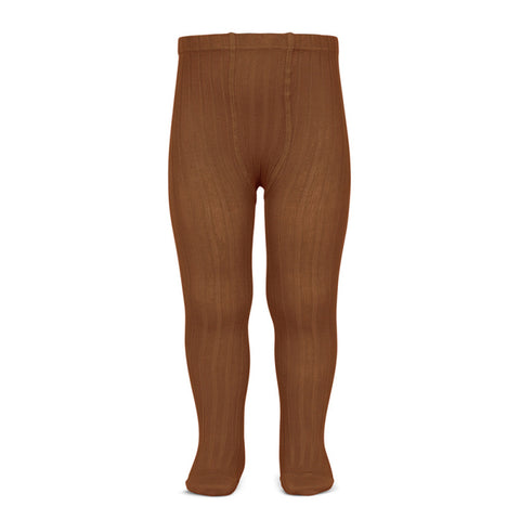canale leotardos oxido rib tights brown