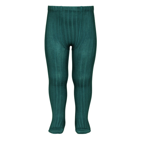 soft rib tights in petrol color condor tight rib canale leotardos