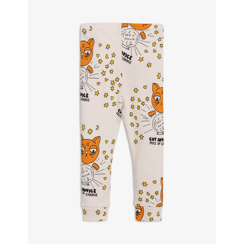 From Mini Rodini beige leggings cat advide