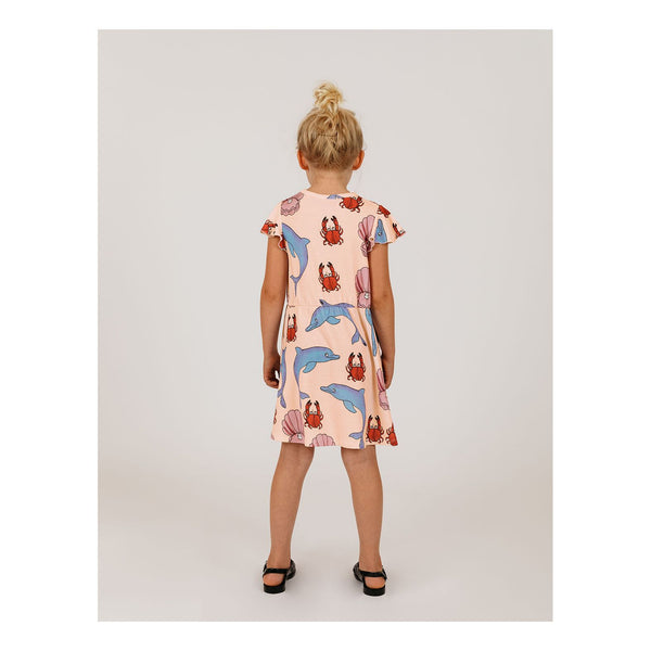dolphin dress pink with dolphins and shells mini rodini a la mer capsule collection