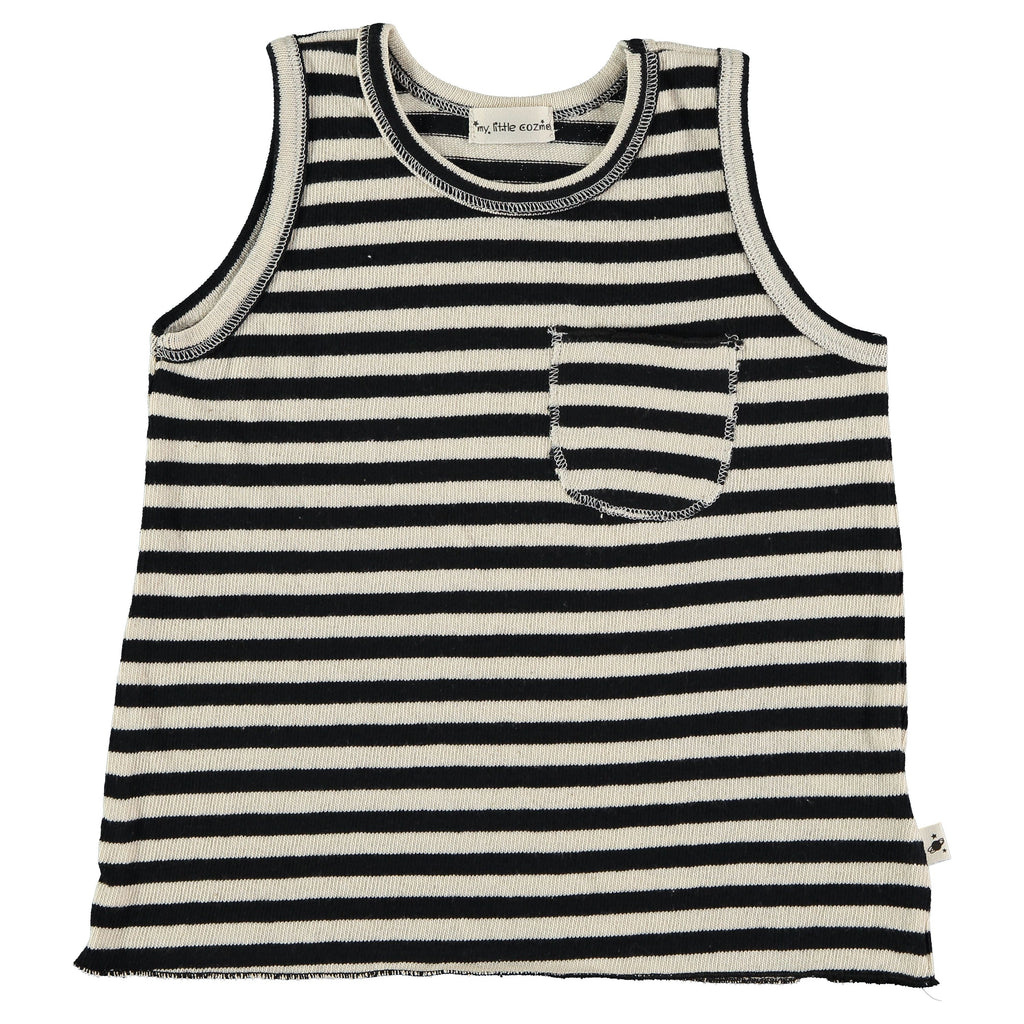 My Little Cozmo - Striped Tank Top
