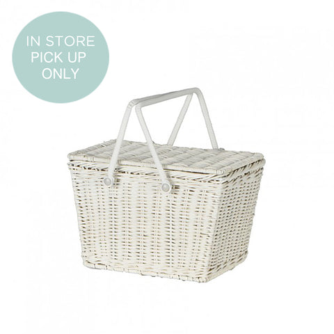 from the fair-trade brand Olli Ella the Piki Basket in white