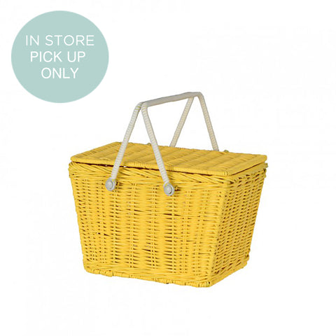 from the fair-trade brand Olli Ella the Piki basket in yellow