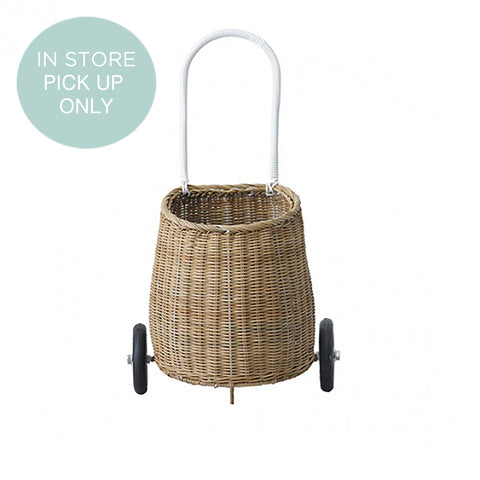 from the fair-trade brand Olli Ella the Kuggy basket in natural rattan. at konfetti kids