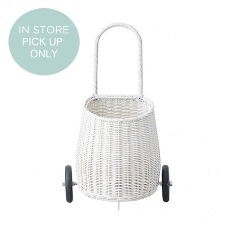 From the fairtrade brand Olli Ella the Luggy basket in white, perfect for the kids