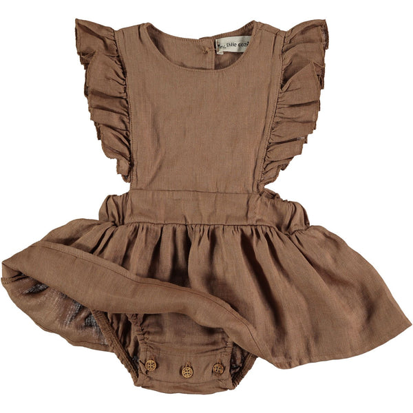 anais dress with body brown my little cozmo