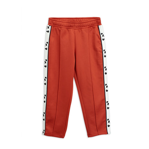 panda trousers pants mini rodini red