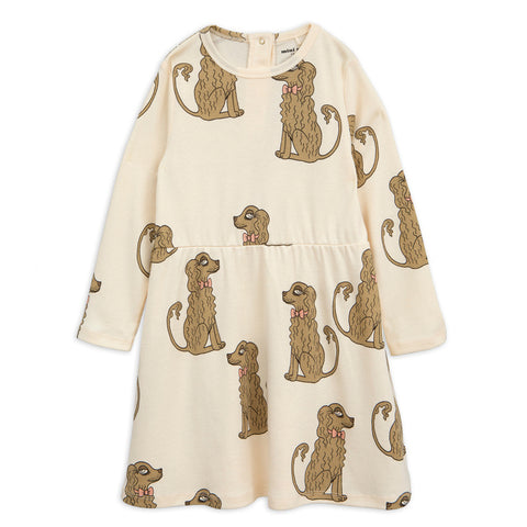 spaniel dress long sleeves off white from mini rodini
