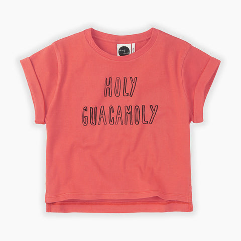 Sproet & Sprout Holy Guacamoly red t-shirt