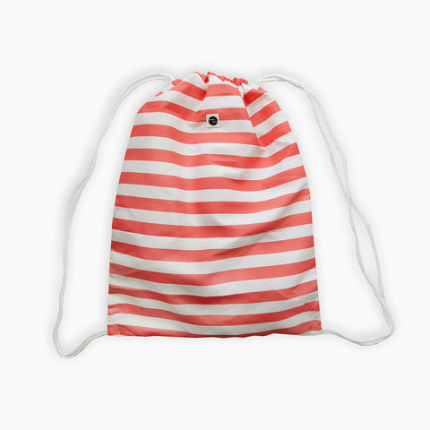 Sproet Sprout striped bag backpack light red and white